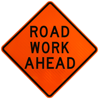 'Road Work Ahead' Street Sign
